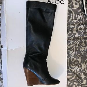 Aldo boots that come to the knee (Wedge boots).